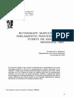 Butalmapus en 1805 Mendoza