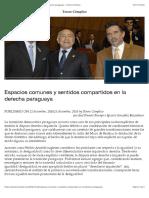 Espacios Comunes y Sentidos Compartidos en La Derecha Paraguaya