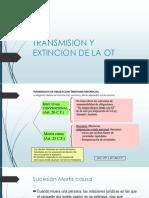 Transmision y Extincion de La obligacon tributaria