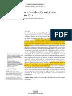 Investigaciones en Colombia Sobre Ideación Sucida