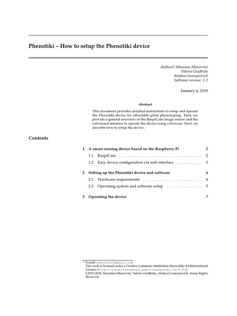 Phenotiki Device V12 Secure Digital Raspberry Pi Wiringpi License