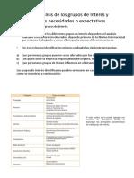 Pasos Para Identificación de Req - Expec de Los Grupos de Interés