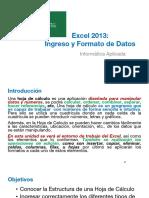 01 Excel 2013 - Ingreso y Formato