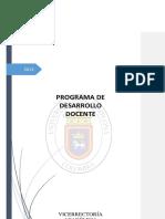 Programa Desarrollo Docente