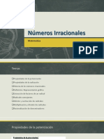 Números Irracionales Diapositiva