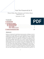 RUnit - A Unit Test Framework for R