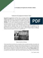 Fundamentos de Programación Orientada a Objeto (Cap I)