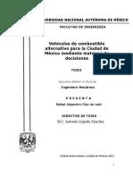 TESIS Vehículos de Combustible Alternativo Para La Ciudad de México Mediante Matrices de Decisiones