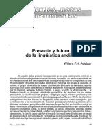 Presente y Futuro de La Linguistica Andina