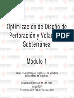 112509645 Optimizacion de Diseno de Perforacion y Voladura Subterranea