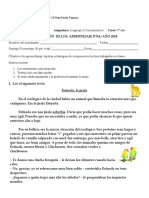 Evaluacion Sumativa 04 Lenguaje Comprension Lectora REPETICION