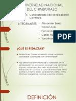 Generalidades de La Redaccion Cientifica