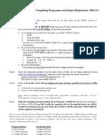 Checklist for Completing Registration (2010-11)