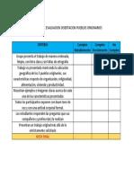 Rubrica de Evaluacion Disertacion Pueblos Originarios