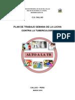 Plan de Trabajo Tb 2016 Semana Contra La Tb