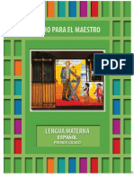 1° LIBRO DE TEXTO DEL MAESTRO ESPAÑOL