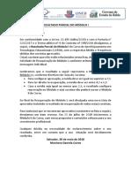 Planilha Cursistas- Resultado Parcial -MOdulo I - Sala 01 G16