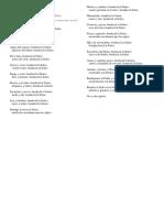 Cuadro de Las Cinco Declinaciones Latín