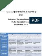 Rúbrica Para Trabajo Escrito y Oral