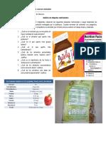 Análisis de etiquetas nutricionales n°3