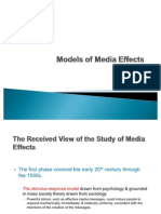 Models of Media Effects