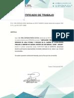 Certificado de Trabajo 2