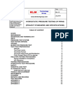 Project Standards and Specifications Hydrostatic Pressure Testing Rev01