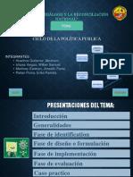 Ciclo de Las Politicas Publicas