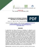 Aderencia de Sistemas Ceramicos-uso de Material Alcalinament