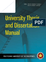 PUP University Thesis and Dissertation Manual With ISBN as of 08.07.17