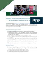 PDF Informativo Del Programa de La Fundación Botín Para El Fortalecimiento de La Función Pública en América Latina 2018