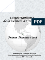 Comportamiento Economico Primer Trimestre 2018