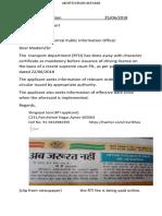 25062018 RTO License Online RTI Application