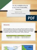 Proyecto de Estabilización de Playas en Costa Esmeralda