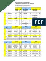 Jadwal Pelajaran 2017 - 2018