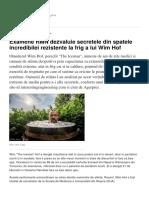 Examene RMN Dezvaluie Secretele Din Spatele Incredibilei Rezistente La Frig a Lui Wim Hof