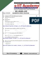 SSC 10th Maths Code a Solution Updated