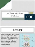 Neuron Motor Disease PPT