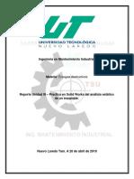Procedimiento para realizar un análisis a un ensamble en SolidWorks