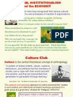 Cultural Institutionalism and the Economy