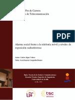 Alarma Social Frente a La Telefonía Móvil y Niveles de Exposición Radioeléctrica