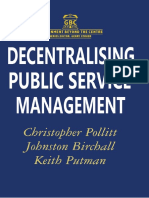 (Government Beyond the Centre) Christopher Pollitt, Johnston Birchall, Keith Putman (Auth.)-Decentralising Public Service Management-Macmillan Education UK (1998)