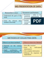 Collection and Presentation of Data 2015