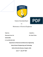 report on maintenance of electrical parts in automobiles