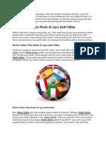 Judibolawin-Sbobet Online Piala Dunia Di Agen Judi Online