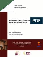 Análisis Tecnológico de Un Estudio de Grabación
