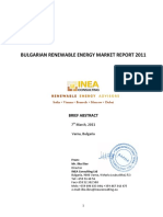 Abstract Bulgarian Renewable Energy Market Feasibility Analysis 2011
