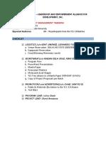 Project Management Training (PMT) Scene Setter