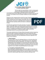 JCIP Planning Kit #3B - JCI Active Citizen Framework Info Sheet