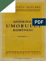 Antologia Umorului Romînesc. Volumul 1